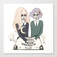 ouija Canvas Prints featuring Ouija by Bunny Miele