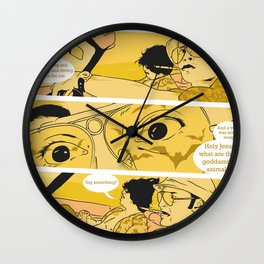 Holy Jesus, What Are These Goddammed Animals? Wall Clock