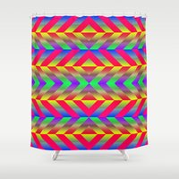 psychedelic Shower Curtains featuring Psychedelic by Texture