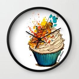Cup Cake Grafite Wall Clock