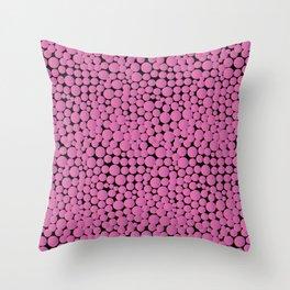 Pink Bubblegumballs! Throw Pillow