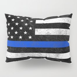 Thin Blue Line Flag 2 Pillow Sham