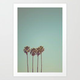 Vintage Palm Trees Art Print