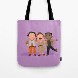 Rey, Finn, and Poe Star/Wars fanart Tote Bag