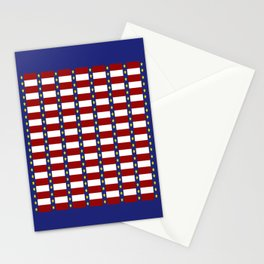 Nautical Stars and Stripes Stationery Cards