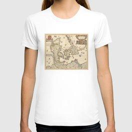 Vintage Map of Denmark (1690) T-shirt