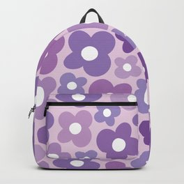 Funky Purple Flower Power Backpack