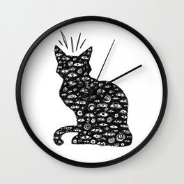 Cat Eyes Wall Clock