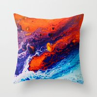 return Throw Pillows featuring Return by Kimsey Price
