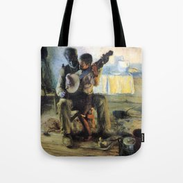 African American Masterpiece 'The Banjo Lesson' by Henry Ossawa Tanner Tote Bag