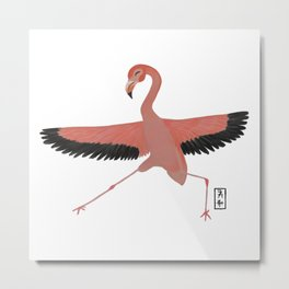 Flamingo Zenimal Metal Print