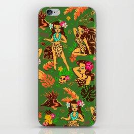 Tiki Temptress on Green iPhone Skin