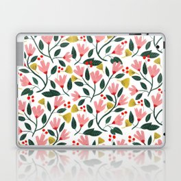 Pink Floral Pattern Laptop & iPad Skin