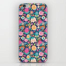 Blooming Burst - Navy iPhone Skin