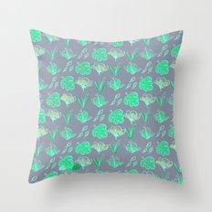 Sleep Your Leafy Greens Throw Pillow
