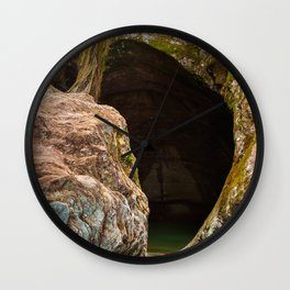 Gobble Rock Cave Wall Clock