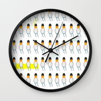 family Wall Clocks featuring family by Nayoun Kim