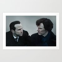 Sherlock & Moriarty Art Print