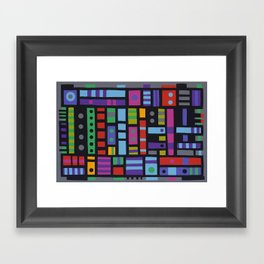 Find there a frog Framed Art Print