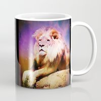 lion king Mugs featuring King Lion by SwanniePhotoArt