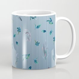 Falling Leaves in Blue Coffee Mug