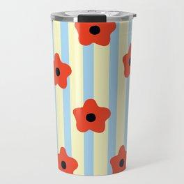 Poppies & Stripes Travel Mug