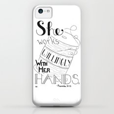 Sew Willingly, Sewing Quote iPhone 5c Slim Case