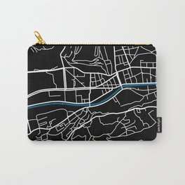 Sarajevo city map black colour Carry-All Pouch