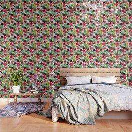 Lotus in koi pond Wallpaper