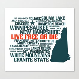 New Hampshire Live Free or Die Canvas Print