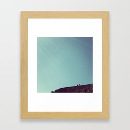 ruminations at the edge of the world Framed Art Print