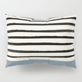 Dusty Blue x Stripes Pillow Sham