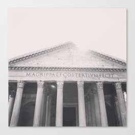 The Pantheon, fine art print, black & white photo, Rome photography, Italy lover, Roman history Canvas Print