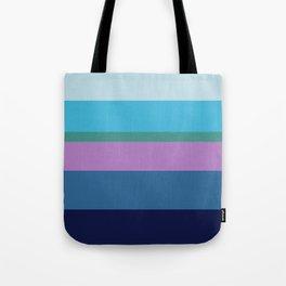 Striped horizon Tote Bag