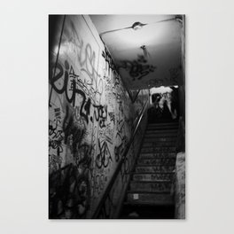 Stairwell fight Canvas Print