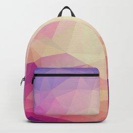 Shining Abstract Polygon Pattern Yellow, Purple, Pink, and Orange Backpack