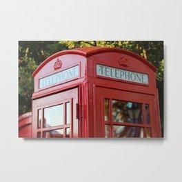 British Telephone Kiosk Metal Print