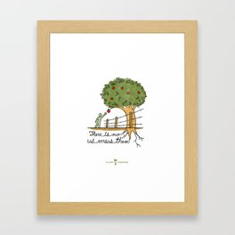 Plant With Purpose - There is no us versus them Framed Art Print