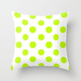 Polka Dots (Lime/White) Throw Pillow