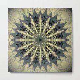 Feather Mandala Design Metal Print