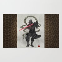 darth Area & Throw Rugs featuring Darth Samurai by happiestfung