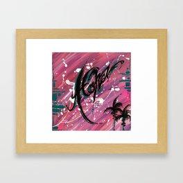 """ALOHA"" Framed Art Print"