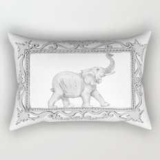 grey frame with elephant Rectangular Pillow
