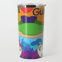 Ernest & Coraline | I love Guam Travel Mug