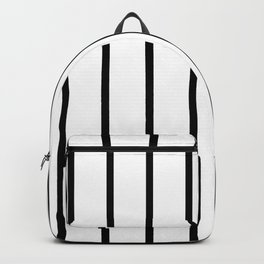 Vertical Lines (Black & White Pattern) Backpack
