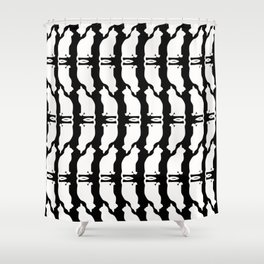 """Crazy Cat Human"" Shower Curtain"