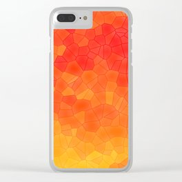 Mosaic Lake of Fire Clear iPhone Case