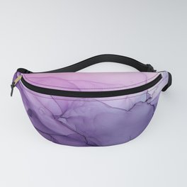 Purple Amethyst Crystal Inspired Abstract Flow Painting Fanny Pack