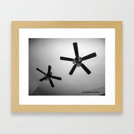 Twin Fans Framed Art Print