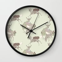golf Wall Clocks featuring Golf by Ellie Price